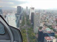 Vista desde un helicóptero de la CDMX