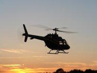 Atardecer desde un helicóptero