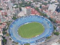 Estadio del Cruz Azul, vista desde helicóptero.