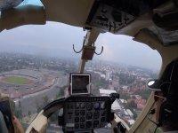 Vista desde un helicóptero