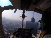 Recorre desde un helicóptero las principales avenidas