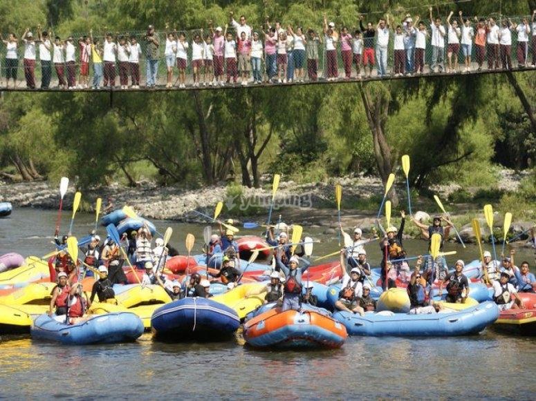 Rafting en grupo