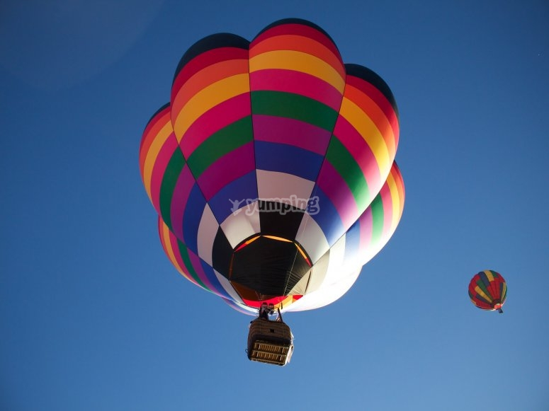 Colorful and large hot air balloon