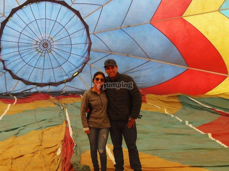 Shared balloon flight in Ensenada