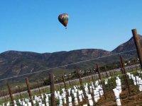 Balloon flight over wine route
