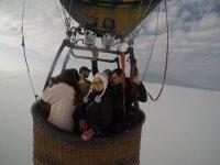 Volando en globo entre semana sobre Huamantla