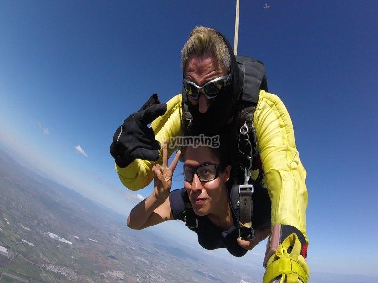 Skydiving in Celaya