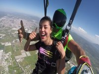 Tandem jump for couples with photos, video Celaya