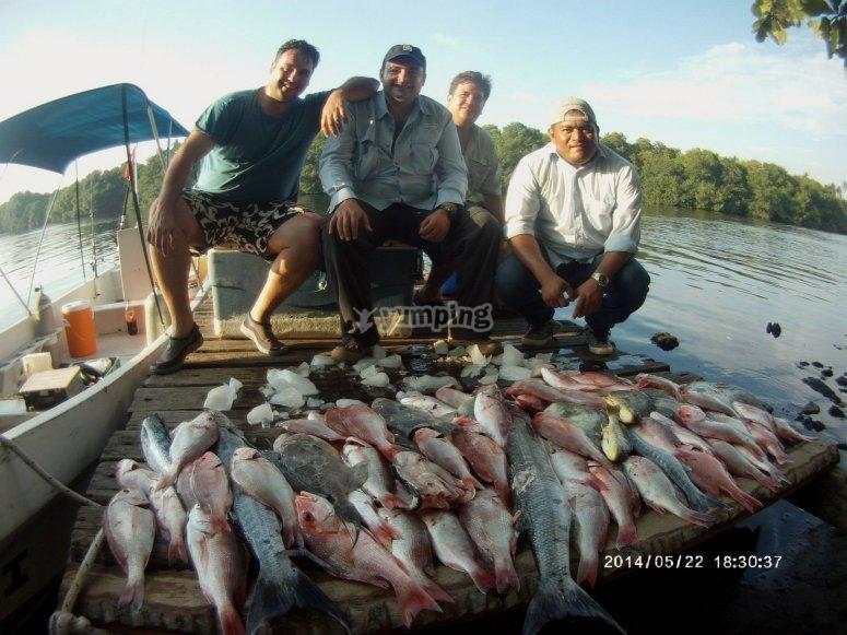 Contando los resultados de la pesca