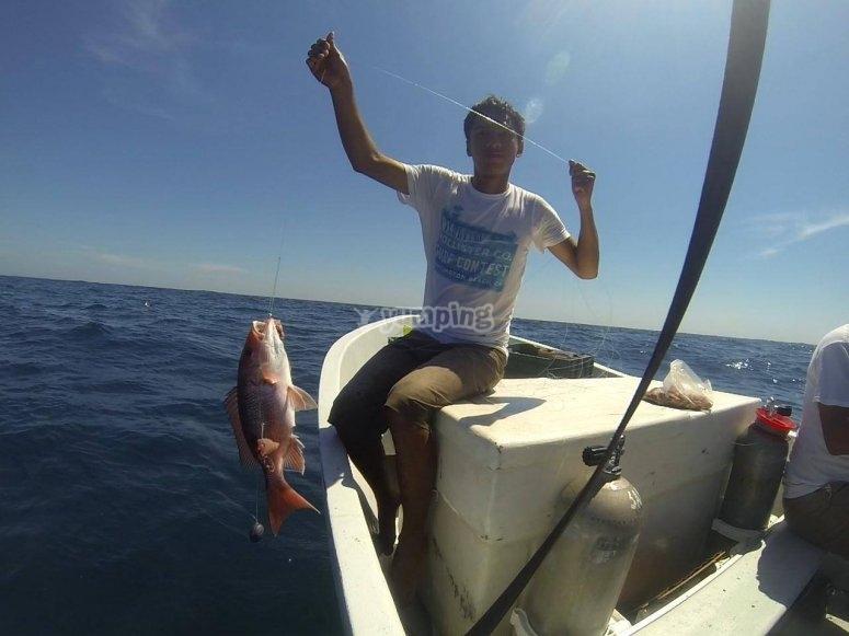 Pescando en Paraíso