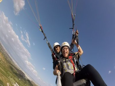 Paragliding flight with video and food in Chipilo