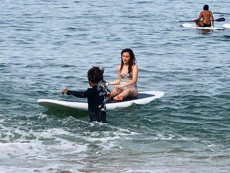 Paddle surf en familia en Acapulco