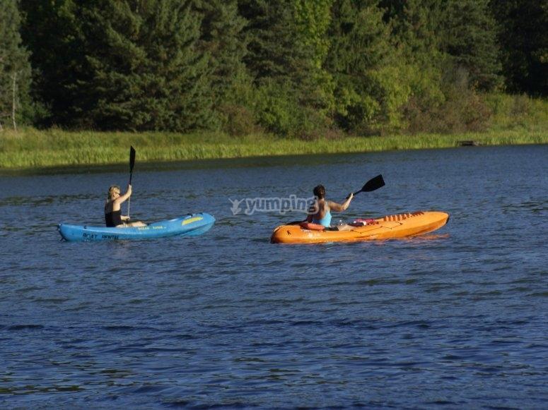 Enjoying a day in kayak