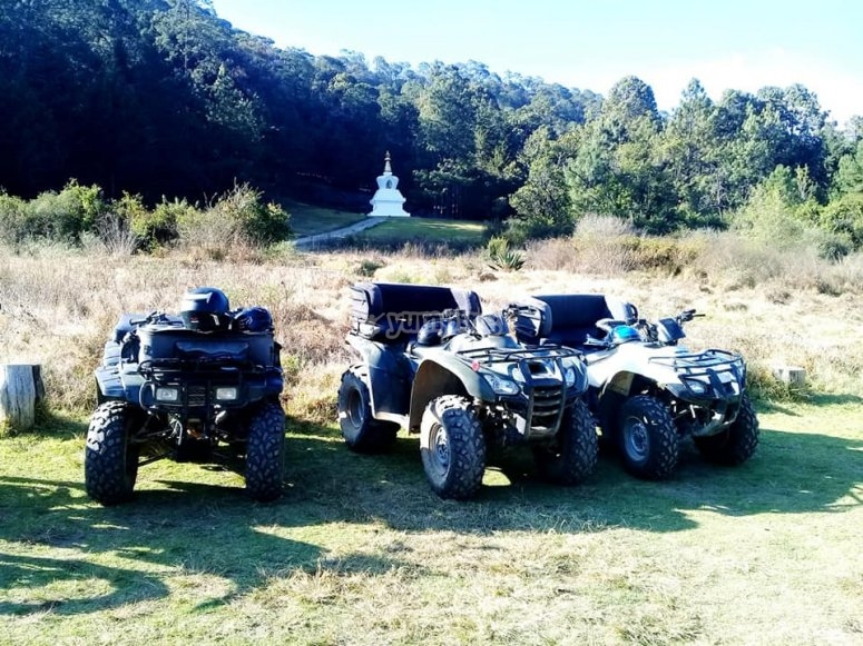 ATVs in the stupa