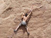 Hot stone climbing