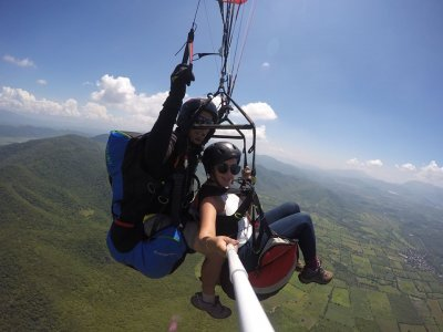 Paragliding flight with photos and video in Tapalpa