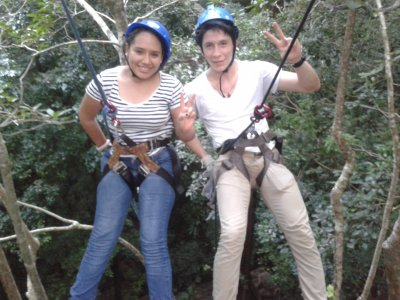 Rappel in dry cenote in Champotón with accommodation