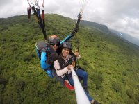 Tandem paragliding flight over Tapalpa