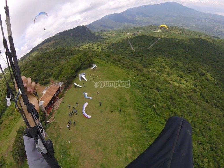 Take-off zone in Tapalpa