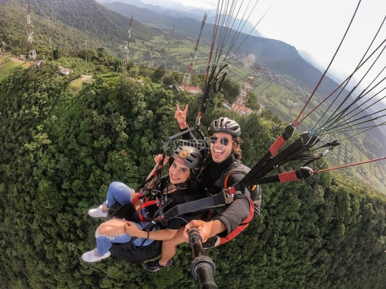 Experience in paragliding