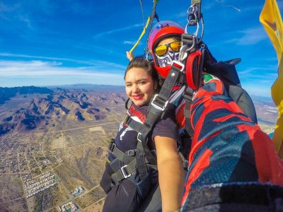 Tandem jump with photos and HD video in San Carlos