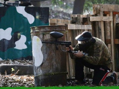 Paintball game 100 capsules in Jalcomulco