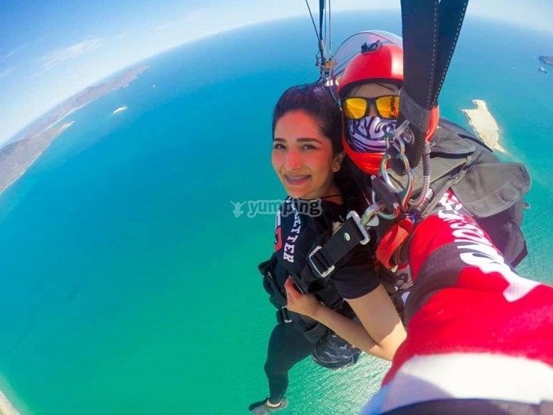 San Carlos Bay by parachute