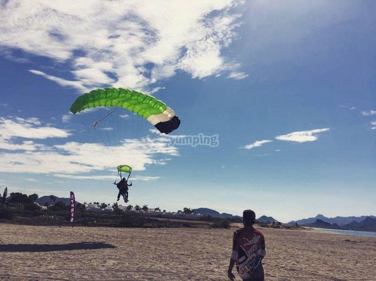 AA landing on the beach