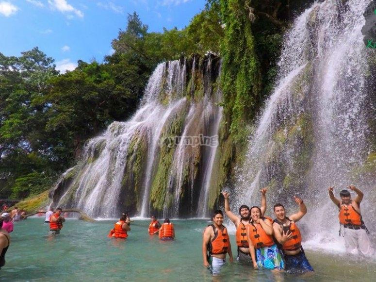 Enjoying the waterfalls in San Luis Potosí