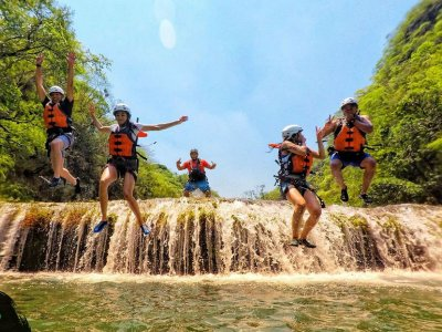 Micos waterfalls and rappelling in Minas Viejas