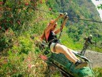 12 zip line circuit in Puerto Vallarta jungle