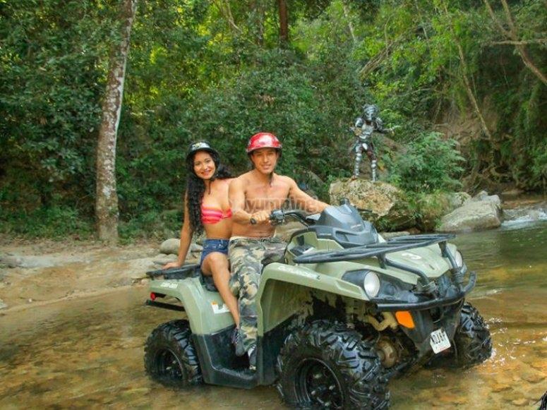 Enjoying ATV all-terrain