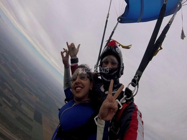 Enjoying the parachute