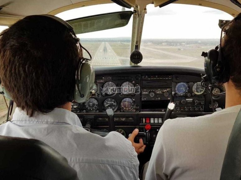 Starting the flight in General Terán