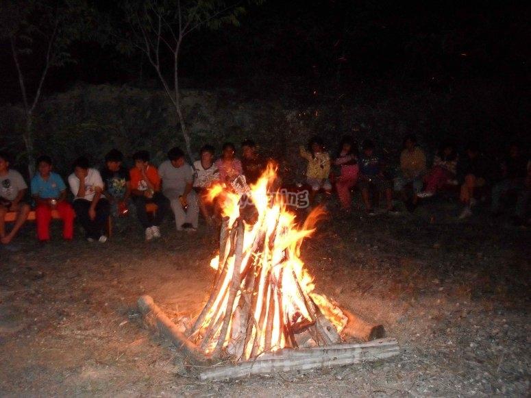 Campfire in company
