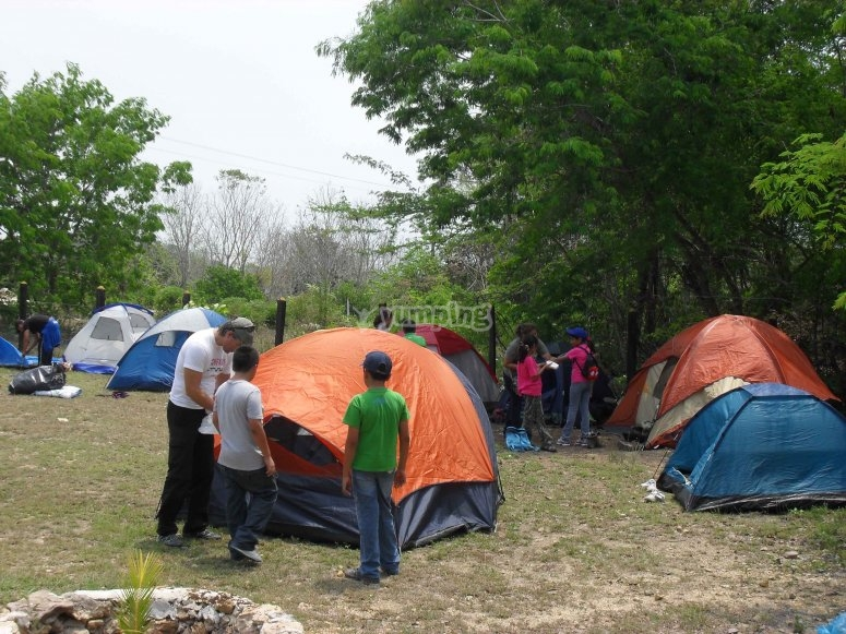 Tents area