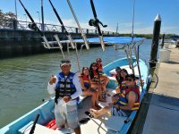 Whale watching in shared panga boat San Blas