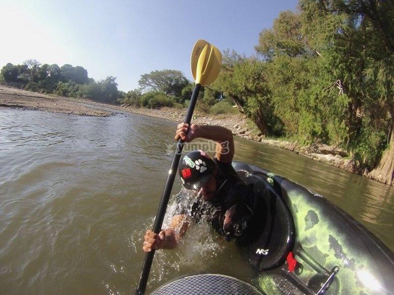 Dominating the kayak