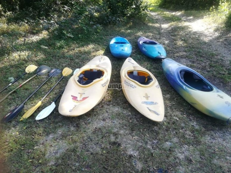 Kayaks for the course