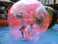 Zorbing in the water