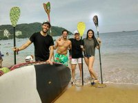 Have fun doing stand up paddle