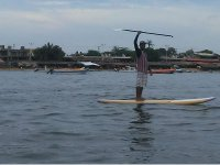 Sailing through Puerto Marques with your board