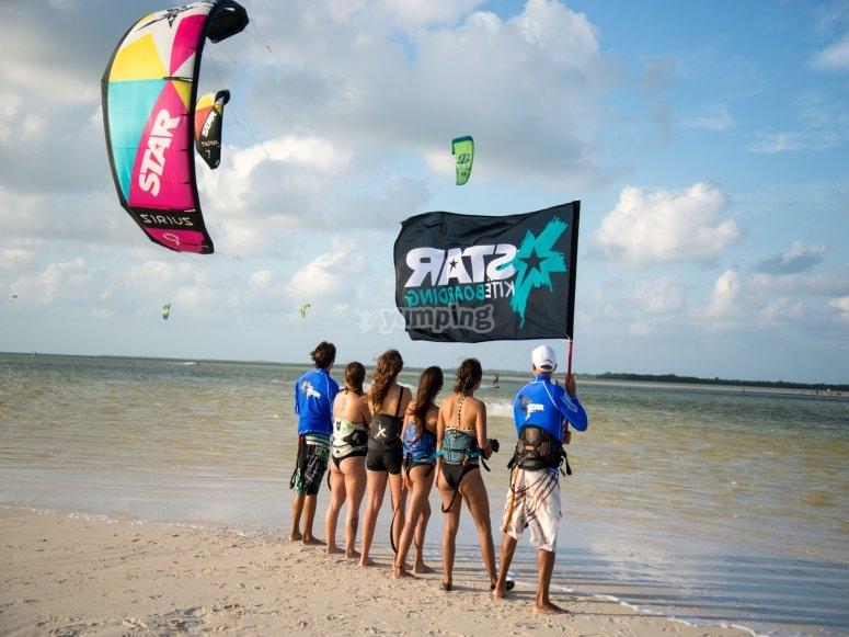 Kitesurfing in Cancun