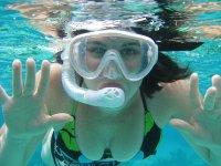 Snorkel in the bay of Puerto Marqués