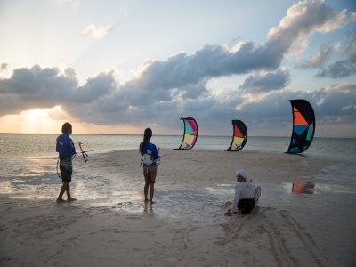Private advanced kitesurf class in Isla Blanca