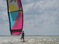 Fun with kitesurfing
