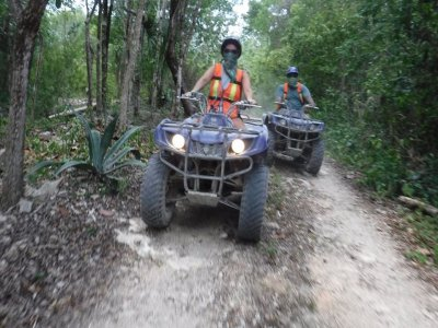 ATV tour to cenote maya in Playa del Carmen