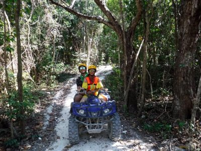 Tandem ATV tour to cenote in Playa del Carmen
