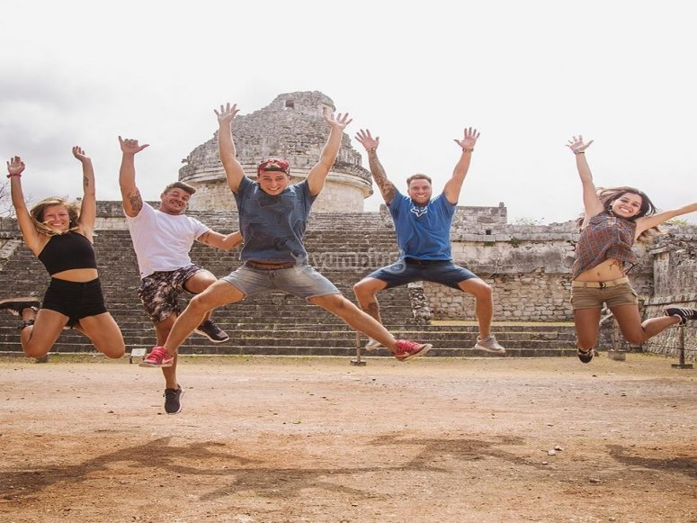 Disfrutando Chichen Itzá