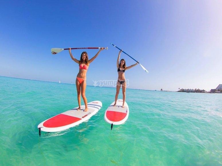 Paddle board en Isla Mujeres